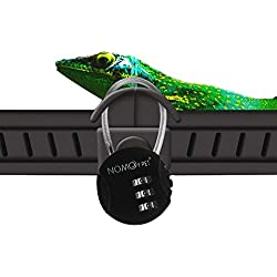 OMEM Mini Password Padlock, Reptile Box Cabinet Password Lock, Prevent Reptile Pets From Escaping, Suitable For Lizards, Turtles, Spiders, Snakes And Other Reptile Boxes