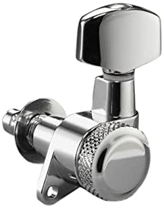 schaller locking tuning machine heads 3 per side chrome musical instruments. Black Bedroom Furniture Sets. Home Design Ideas