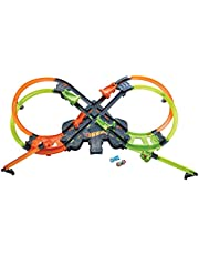Hot Wheels Colossal Crash Track Set Figure 8 Track Set Competitive Play Aerial Stunts Toys for Boys Age 5 and Up