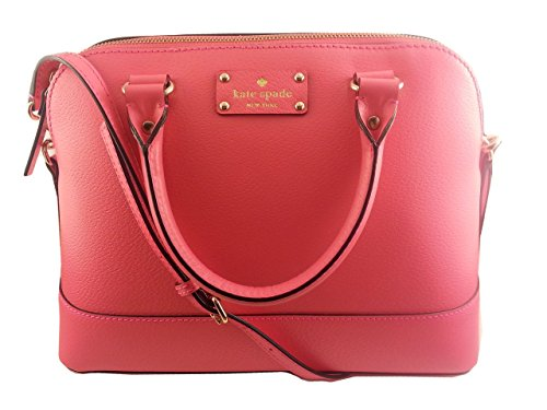 Kate Spade Wellesley Small Rachel Leather Satchel in Peony Pink