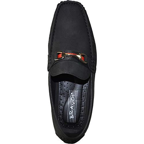 Sand Blue Coffee Driving bravo Moccasin 3 Shoe Casual Todd Black Black Men Red OTOvgqHw
