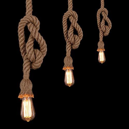 450cm Singel Head dia 30mm E27 Edison Ampoule 18mm Rétro Campagne Chanvre Corde Lampe Pendentif Lumières Edison Ampoule pour Salon ou Café Lumières
