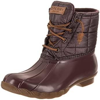 Sperry Top Sider Saltwater Grape 6.5 Women Boot