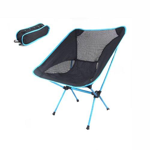 EverTrust ( TM )新しいポータブル折りたたみキャンプ椅子シート用釣りフェスティバルピクニックバーベキュービーチStool withバッグ B00V34JZ6M ブルー ブルー