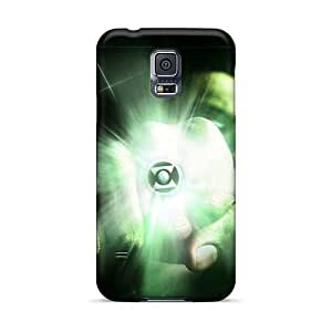 Shock-Absorbing Hard Phone Covers For Samsung Galaxy S5 (moi12366yaIF) Allow Personal Design Trendy Green Lantern I4 Image