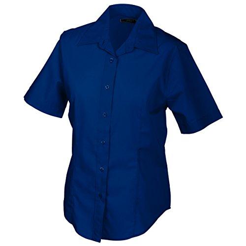JAMES & NICHOLSON - Camisas - Básico - Manga corta - para mujer azul marino