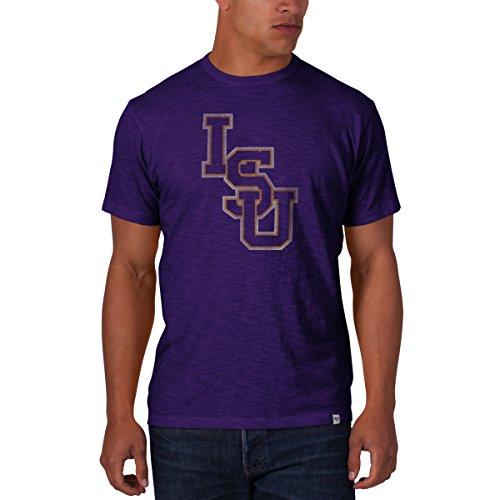 '47 Men's NCAA   LSU Tigers Basic Scrum T-Shirt, (University Ncaa Classic Fleece)