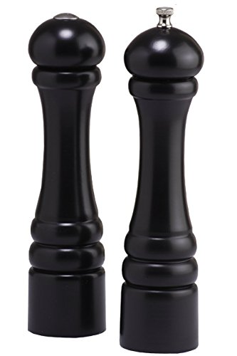 Chef Specialties 10500 10 Inch Imperial Pepper Mill and Salt Shaker Set-Ebony, B0192D2PAS,