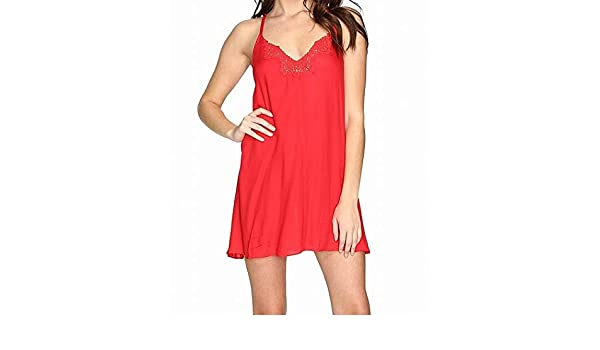 d77784f316208 Free People Women's Kendall Trapeze Slip Bright Red Medium at Amazon Women's  Clothing store: