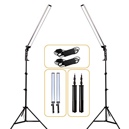 GIJUANRING 2x36W Photography Dimmable LED Video Light,5600K Light Photo Lighting Kit for Camera Photo Studio Shooting,Professional LED Light with Tripod Stand
