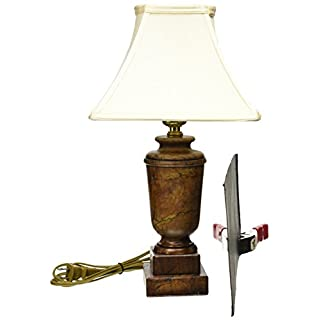 Royal Designs Caramel Alabaster Mini Lamp with an Eggshell Burman Lampshade