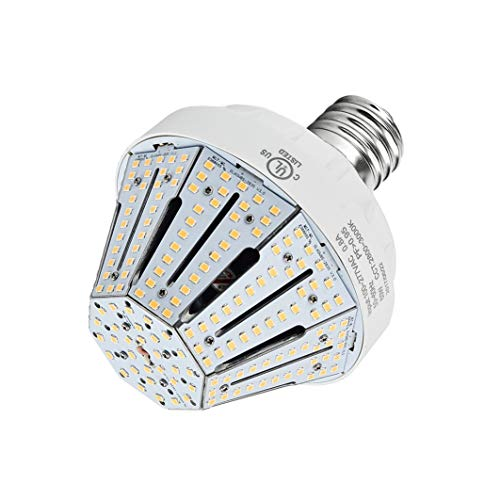 60W LED Corn Light Bulb Daylight White Street and Area Lighting E39 9150 Lumen 200 Watt Equivalent Replacing HID Metal Halide HPS