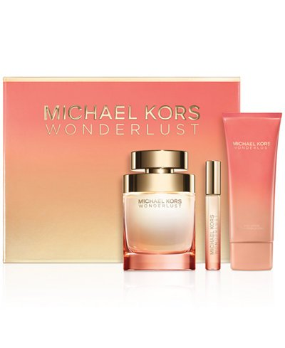 Wonderlust By Michael Kors 3 Pc Gift Set 3.4 oz EDP Spray,3.4 oz Lotion & - Michael Destination Kors