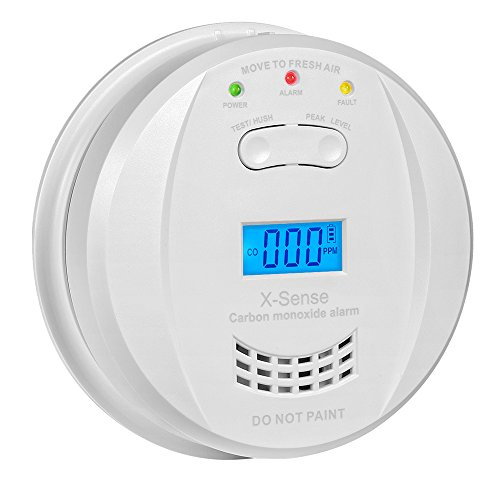 X-Sense CO Melder Kohlenmonoxidmelder Warngerät Warnmelder Carbon Monoxide CO Detector mit Digitaler Anzeige, Batteriebetrieben, CO03JF