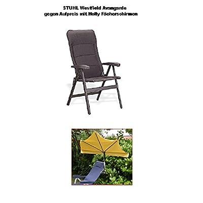 - Nouveau–Exclusif–Aluminium–Stabielo Chaise de camping avan Garde–Fauteuil à dossier haut–Charge 150kg–