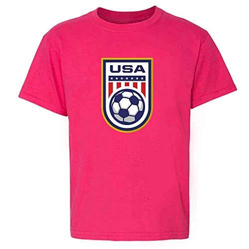 USA Soccer Team National Crest Girls or Boys Pink 2T Toddler Kids T-Shirt