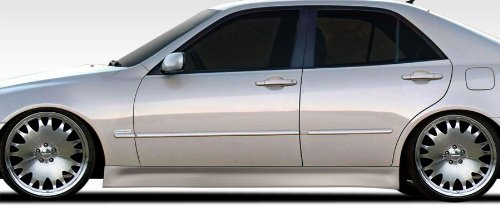 Side Speed Skirts (Duraflex Replacement for 2000-2005 Lexus IS Series IS300 V-Speed 2 Side Skirts Rocker Panels - 2 Piece)