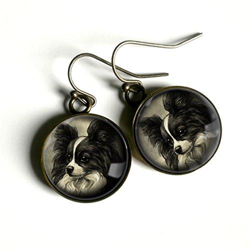Papillon Dog Earrings