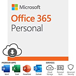 One solution across all your devices*. With Office 365 Personal, you get Word, Excel, PowerPoint, Outlook, and more. Work anywhere with apps that are always updated with the latest features. 12-month subscription for one person including 1TB OneDrive...