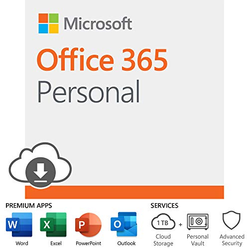 Microsoft Office 365 Personal | 12-month subscription, 1 person, PC/Mac Download (Best Alternative Microsoft Word)