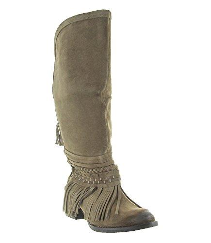 (Naughty Monkey Women's Zarape Chelsea Boot, Taupe, 8.5 M US)