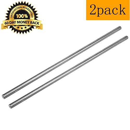 2 Pack 18 Inch Winding Rods for Torsion Springs, 0.5inch Diameter Steel Winding Bars for Adjusting or Replacing Garage Door Tension ()