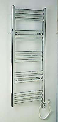 Electric Towel Warmer for Bathroom Wall Mount Heated Rail Towel & Space Heater R1532C-300. CDM