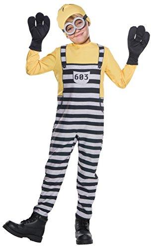 Rubie's Costume Boys Despicable Me 3 Jail Minion Tom Costume, Large, Multicolor