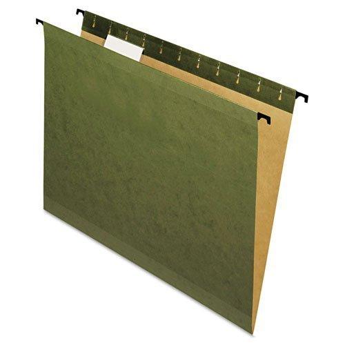 Pendaflex SureHook - Poly Laminate Reinforced Hanging Folders, Letter, Green, 20/Box 6152-1/5 (DMi BX by Pendaflex?? SureHook''??