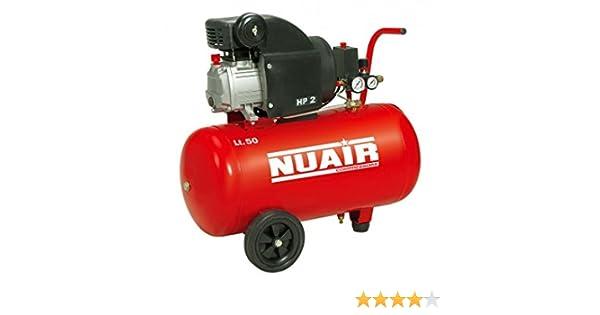 Nuair M257189 - Compresor de piston con aceite rc2/50 cm red 2hp: Amazon.es: Bricolaje y herramientas