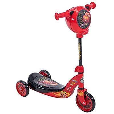 Wonders-Shop-USA New My Lightning Mc-Queen Cars Kick Scooter 3 Wheels with Secret Storage: Toys & Games