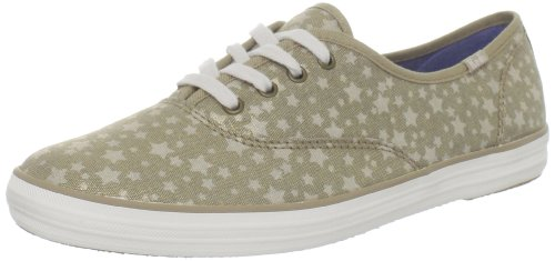 Keds Women's Champion Stars Lace Up Shoes,Cream Chambray,7 - Keds Shoes Womens Star