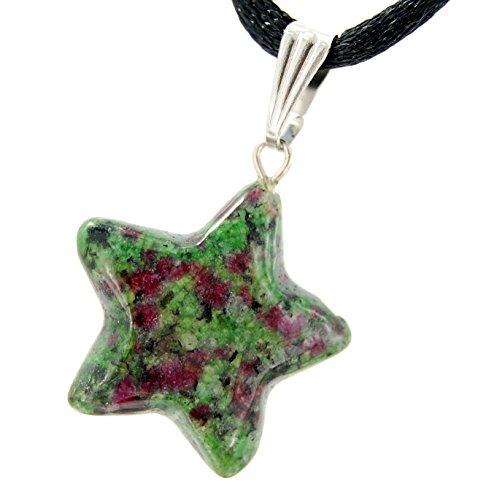Celestial Collection - 20mm Classic Star Ruby Fuchsite Green Pink - 20