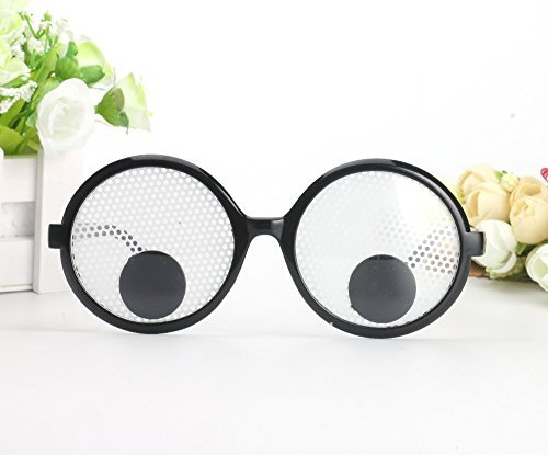 Googly Eye Glasses (YiGooood Funny Googly Eyes Goggles Shaking Party Glasses Toys for Party Cosplay Costume Party Decoration)