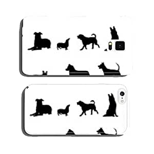 black dogs on white background cell phone cover case Samsung S5