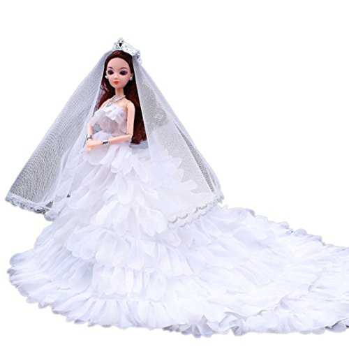 Digood For American Girl Doll Cute Princess Wedding Party Gown Tutu Dress Clothes