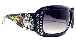 Sunglasses With Rhinestone in Multi Concho
