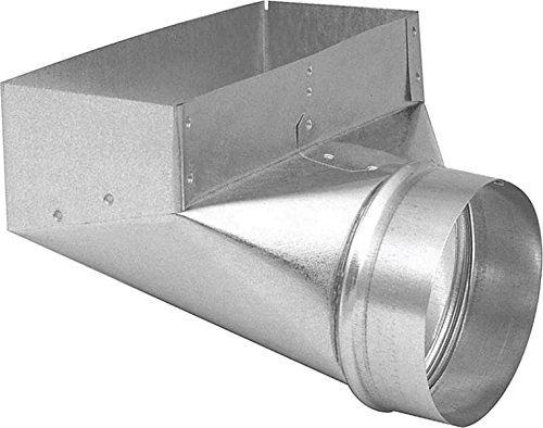 Duct Angle Boot 3-1/4x10x4in (Galvanized Round Pipe)