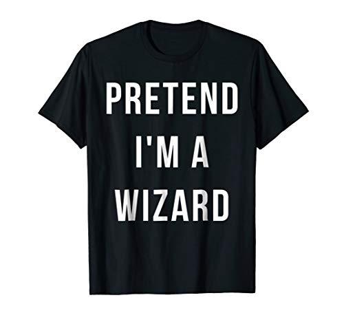 Pretend I'm A Wizard Halloween Lazy Last Minute Costume -