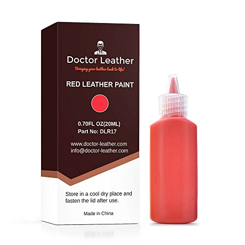 Doctor Leather | Red Leather Paint | Non Toxic Premium Grade | Use to Restore and Repair Your Red Leather Items | for Handbags, Car Seats, Couches, Sofas, Boats, Jackets and Shoes (Seat Yellow Vinyl)