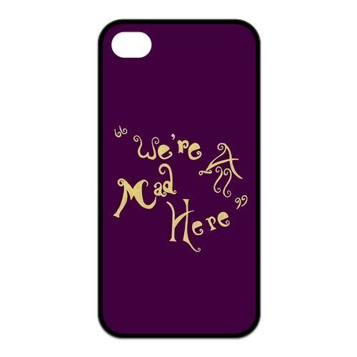 Alice in Wonderland We're all mad here Cheshire Cat Unique Apple iphone 6 plus 5.5 Durable Hard Plastic Case Cover Personalized Treasure DIY