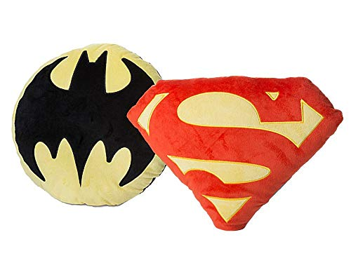 DC Comics Justice League -Batman/Superman Symbol Throw Pillow