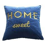 Sanmenxia Throw Pillow Cover Chic Antique Dutch Delftware Decorative Pillow Case Home Decor Square Pillowcase (Dark Blue)