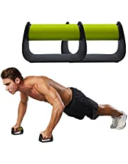 Feishibang Pushup Handles for Floor Board Portable Push Up Bars for People Fitness Home Workout Equipment,Colour Green