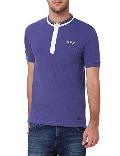Elaborado Men's Polo Neck Tshirt - Pastel Purple - S - EAIS9083PP1
