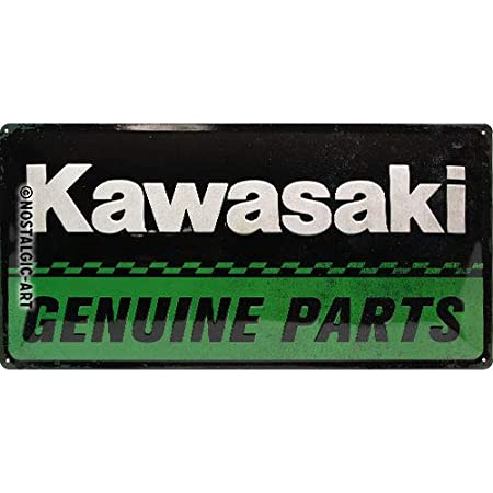 Nostalgic-Art Kawasaki Cartel de Chapa, Metal, Multicolor ...