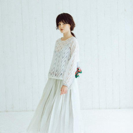 春 ファッション レディース 2018 【Standard】Rubber long skirt(white) B079P8C6PR