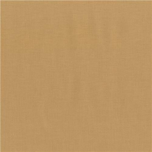Honey Sand-Brown Kona Fabric Robert Kaufman USA (per 0.5 Yard Units) ()