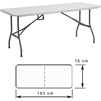 Table camping pliante 183 cm Table valise jardin pliable Aluminium buffet  traiteur pliante Portable