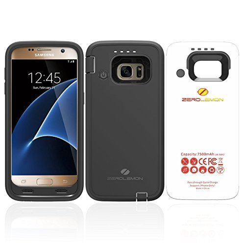 online store 471ef c82c8 Amazon.com: ZeroLemon Samsung Galaxy S7 7500mAh Rugged Battery Case ...